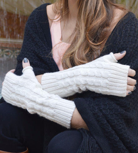 Alpaca and Wool Fingerless Gloves