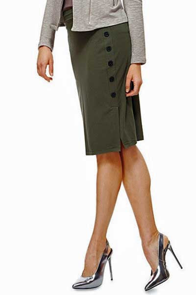 Button Up Bamboo Skirt