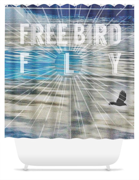 Free Bird Fly * Shower Curtain