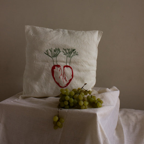 """Blooming heart"" cushion"