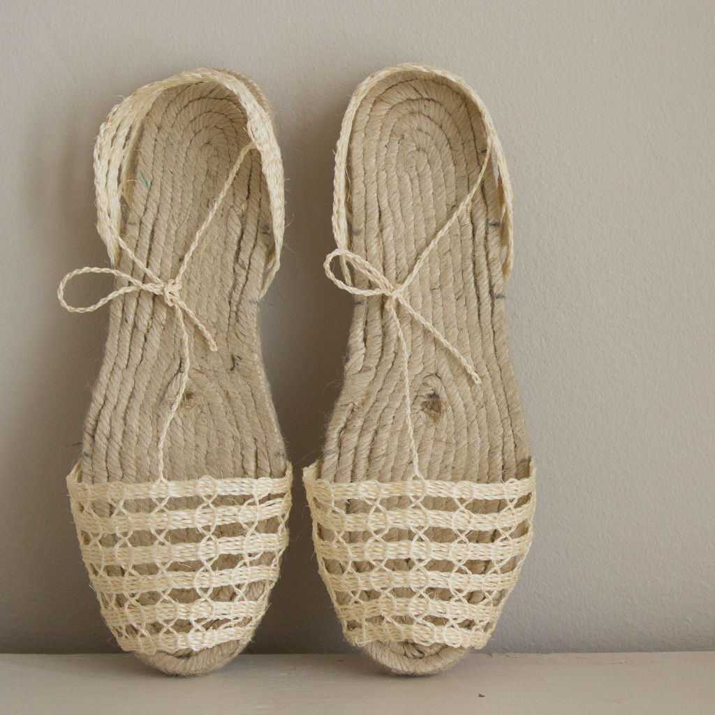 A pair of Ibizan espadrilles, authentic, handmade