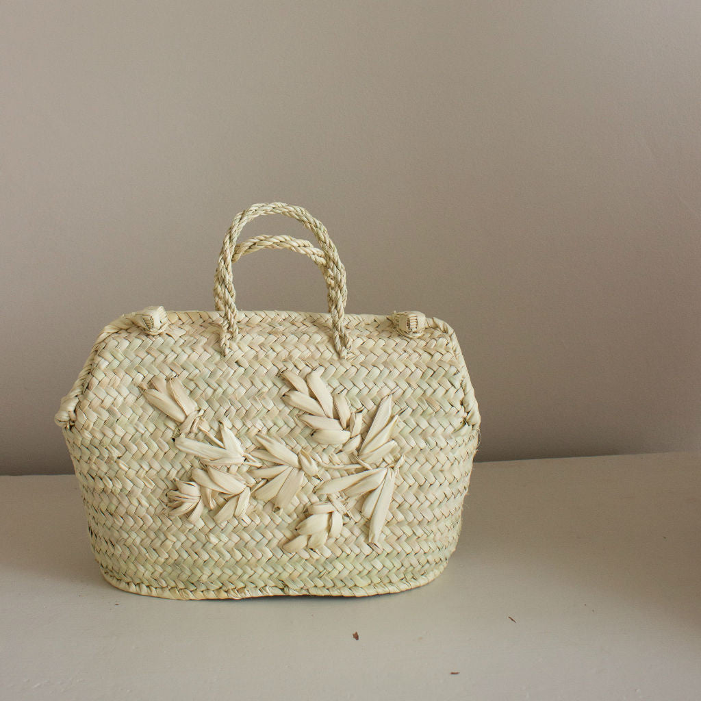 Handmade palm leaf handbag