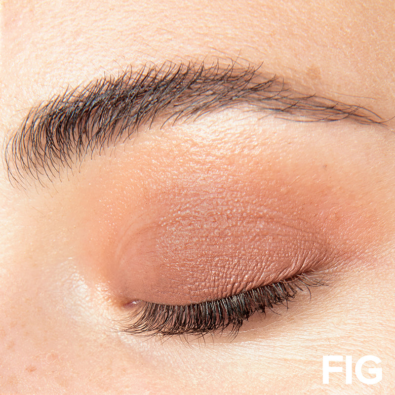 Person wearing Nudestix Magnetic Matte Eye Color in Fig, Fig
