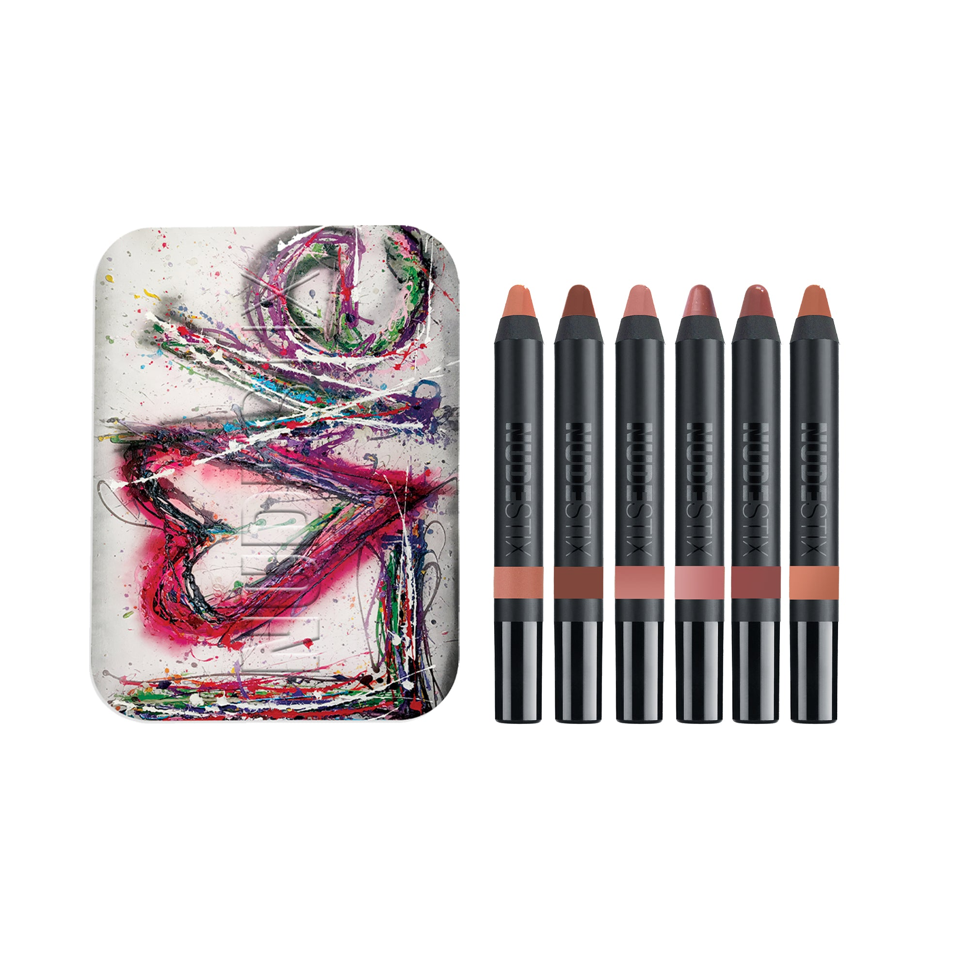 nude lip balm kit and case