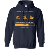 BJJ Skills Loading t shirt mockup - Style Pullover Hoodie 8 oz - Color Navy
