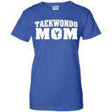 Taekwondo Mom t shirt mockup - Style Ladies Custom 100% Cotton T-Shirt - Color Royal