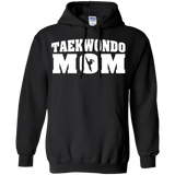 Taekwondo Mom t shirt mockup - Style Pullover Hoodie 8 oz - Color Black