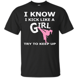 Karate Girl t shirt mockup - Style Custom Ultra Cotton T-Shirt - Color Black