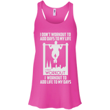 I Workout To Add Life To My Days t shirt mockup - Style B8800 Bella + Canvas Flowy Racerback Tank - Color Neon Pink