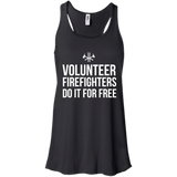 Volunteer Firefighters - Do It For Free t shirt mockup - Style B8800 Bella + Canvas Flowy Racerback Tank - Color Black