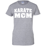 Karate Mom t shirt mockup - Style Ladies Custom 100% Cotton T-Shirt - Color Sport Grey