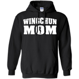 Wing Chun Mom t shirt mockup - Style Pullover Hoodie 8 oz - Color Black