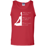 Yoga t shirt mockup - Style 100% Cotton Tank Top - Color Red