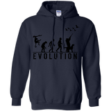 Duck Hunting Evolution t shirt mockup - Style G185 Gildan Pullover Hoodie 8 oz. - Color Navy