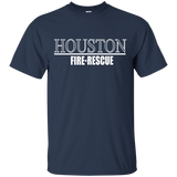 Houston Fire Rescue t shirt mockup - Style G200 Gildan Ultra Cotton T-Shirt - Color Navy
