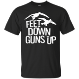 Feet Down Guns Up - Duck Hunting t shirt mockup - Style G200 Gildan Ultra Cotton T-Shirt - Color Black