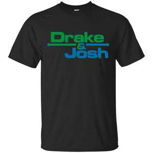 Drake And Josh Sushi t shirt mockup - Style G200 Gildan Ultra Cotton T-Shirt - Color Black