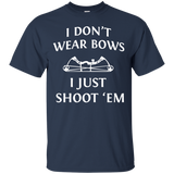 I Just Shoot 'Em - Hunting t shirt mockup - Style Custom Ultra Cotton T-Shirt - Color Navy