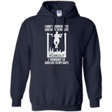 I Workout To Add Life To My Days t shirt mockup - Style G185 Gildan Pullover Hoodie 8 oz. - Color Navy