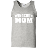 Wing Chun Mom t shirt mockup - Style 100% Cotton Tank Top - Color Ash
