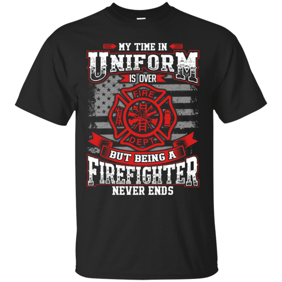 Firefighter Retired t shirt mockup - Style G200 Gildan Ultra Cotton T-Shirt - Color Black
