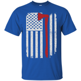 Firefighter Axe US Flag t shirt mockup - Style G200 Gildan Ultra Cotton T-Shirt - Color Royal