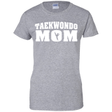 Taekwondo Mom t shirt mockup - Style Ladies Custom 100% Cotton T-Shirt - Color Sport Grey