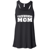 Taekwondo Mom t shirt mockup - Style Bella+Canvas Flowy Racerback Tank - Color Black
