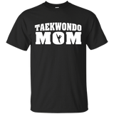 Taekwondo Mom t shirt mockup - Style Custom Ultra Cotton T-Shirt - Color Black