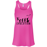 Duck Hunting Evolution t shirt mockup - Style B8800 Bella + Canvas Flowy Racerback Tank - Color Neon Pink