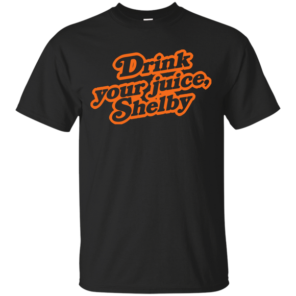 Drink Your Juice Shelby t shirt mockup - Style G200 Gildan Ultra Cotton T-Shirt - Color Black