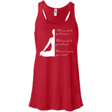 Yoga t shirt mockup - Style Bella+Canvas Flowy Racerback Tank - Color Red