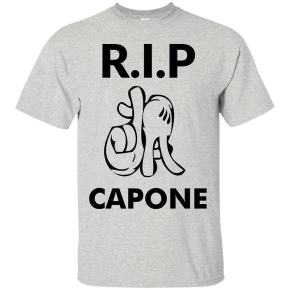 Rip La Capone t shirt mockup - Style G200 Gildan Ultra Cotton T-Shirt - Color Ash