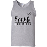 Duck Hunting Evolution t shirt mockup - Style G220 Gildan 100% Cotton Tank Top - Color Sport Grey