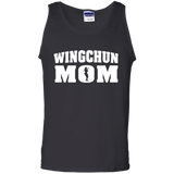 Wing Chun Mom t shirt mockup - Style 100% Cotton Tank Top - Color Black