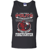 I Became A Firefighter t shirt mockup - Style G220 Gildan 100% Cotton Tank Top - Color Black