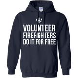 Volunteer Firefighters - Do It For Free t shirt mockup - Style G185 Gildan Pullover Hoodie 8 oz. - Color Navy