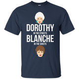 Dorothy In The Streets Blanche In The Sheets t shirt mockup - Style G200 Gildan Ultra Cotton T-Shirt - Color Navy