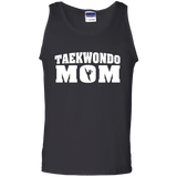 Taekwondo Mom t shirt mockup - Style 100% Cotton Tank Top - Color Black