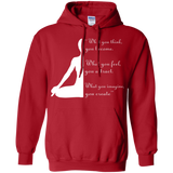 Yoga t shirt mockup - Style Pullover Hoodie 8 oz - Color Red