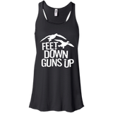 Feet Down Guns Up - Duck Hunting t shirt mockup - Style B8800 Bella + Canvas Flowy Racerback Tank - Color Black