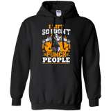 I Lift So I Don't Punch People t shirt mockup - Style G185 Gildan Pullover Hoodie 8 oz. - Color Black