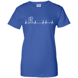 Wing Chun Heartbeat t shirt mockup - Style Ladies Custom 100% Cotton T-Shirt - Color Royal