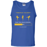 Muay Thai Skills Loading t shirt mockup - Style 100% Cotton Tank Top - Color Royal
