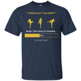 Muay Thai Skills Loading t shirt mockup - Style Custom Ultra Cotton T-Shirt - Color Navy