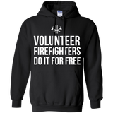 Volunteer Firefighters - Do It For Free t shirt mockup - Style G185 Gildan Pullover Hoodie 8 oz. - Color Black