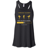 Muay Thai Skills Loading t shirt mockup - Style Bella+Canvas Flowy Racerback Tank - Color Black
