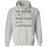 The entire cat population is my best friend t shirt mockup - Style G185 Gildan Pullover Hoodie 8 oz. - Color Ash