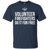 Volunteer Firefighters - Do It For Free t shirt mockup - Style G200 Gildan Ultra Cotton T-Shirt - Color Navy