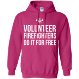 Volunteer Firefighters - Do It For Free t shirt mockup - Style G185 Gildan Pullover Hoodie 8 oz. - Color Heliconia